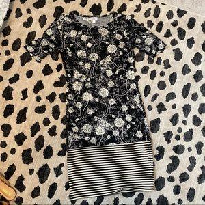 Lularoe Julia Dress | Color-Block Black & White